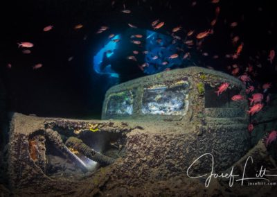 Ford truck at the wreck of Thistlegorm in Egypt © Josef Litt