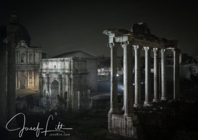 Forum Romanum at night, Rome, Italy. © Josef Litt
