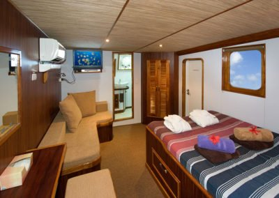 Master Cabin on M/Y Ocean Hunter III, Palau