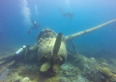 Wreck of a WWII seaplane, Palau diving